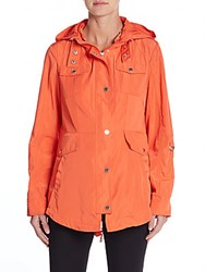 French Connection Hooded Fit And Flare Jacket Coral Beach