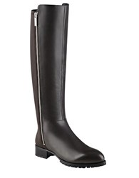 Nine West Legretto Leather Knee High Boots Dark Grey