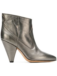 Buttero Mettalic Ankle Boots Silver