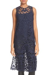 Alice Olivia Women's Kelissa Lace Side Slit Tunic With Camisole