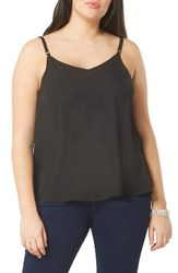 Evans Plus Size Women's Woven Camisole Black