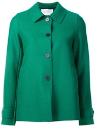 Harris Wharf London Pressed Wool Short Coat Green