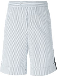 Moncler Gamme Bleu Striped Shorts White