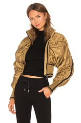 Ivy Park Military Flight Corset Bomber Jacket Brown