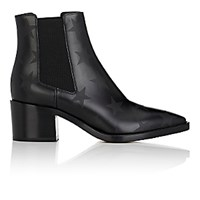Valentino Women's Hologram Stars Leather Ankle Boots Black