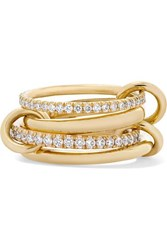 Spinelli Kilcollin Polaris Set Of Four 18 Karat Gold Diamond Rings 6