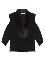 Givenchy Cutaway Shoulder Tux Jacket Black