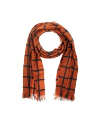 Diesel Oblong Scarves Orange