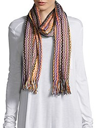 Missoni Chevron Printed Scarf Blue