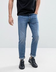 Jack And Jones Intelligence Jeans In Regular Fit Washed Denim Washed Blue 048