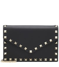 Valentino Garavani Rockstud Leather Shoulder Bag Black