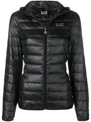 Emporio Armani Ea7 Hooded Puffer Jacket Black