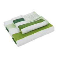 Amara Green Stripe Towel