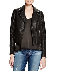 Guess Basketweave Faux Leather Moto Jacket