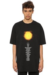 Vetements Oversized Planet Printed Cotton T Shirt Black