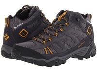Columbia North Plains Mid Wp Charcoal Gallion Men's Hiking Boots Black
