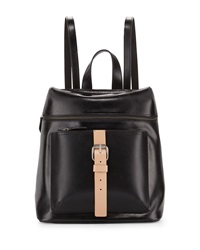 Kelsi Dagger Metro Buckle Leather Backpack Black