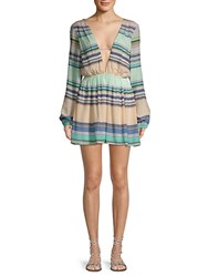 Wildfox Couture Whitney Striped Dress Green Multi