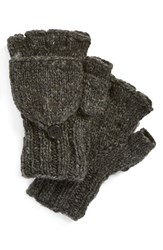 Women's Nirvanna Designs Convertible Fingerless Gloves Grey Charcoal