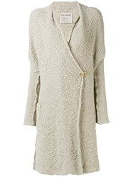 Daniel Andresen Kavan Belted Cardigan Women Cotton Linen Flax M Nude Neutrals