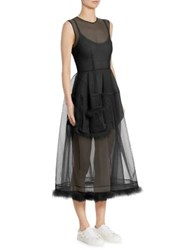 Simone Rocha Feather Pocket Dress Black