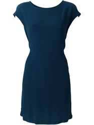 Woolrich Classic Fitted Dress Blue