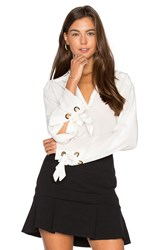 Animale Grommet Lace Blouse White