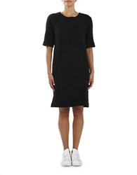 Three Dots Dallas Elbow Length Sleeve Dress Black