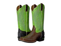 Ariat Catalyst Prime Brush Country Brown Bright Lime Cowboy Boots