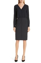 Boss Dunka Pinstripe Mix Dress
