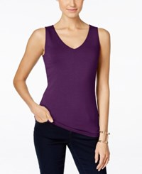 Inc International Concepts V Neck Tank Top Only At Macy's Purple Paradise