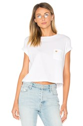 Mother T Time Crop Pocket Shirt White