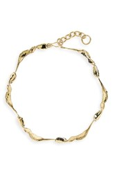 Faris Folia Collar Necklace Bronze