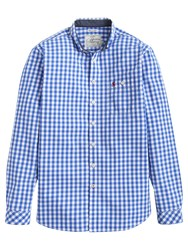 Joules Hewney Gingham Classic Fit Shirt Bold Blue