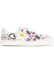 Anya Hindmarch Stickers Allover Sneakers White