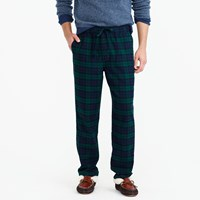J.Crew Flannel Pajama Pant In Black Watch Plaid