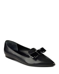 Ivanka Trump Elle Pointed Toe Bow Flats Black