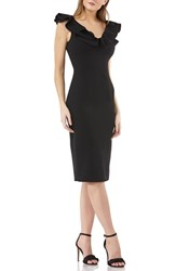 Js Collections Collection Ruffle Cocktail Dress Black