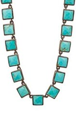 Nak Armstrong Women's Turquoise Mosaic Long Necklace Colorless