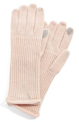 Women's Halogen 'Touch Tech' Cashmere Gloves Pink Pink Peony Bud