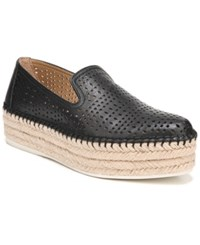 Franco Sarto Elliot Perforated Flatform Espadrilles Black