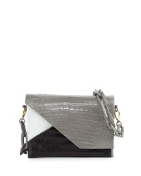 Nancy Gonzalez Crocodile Origami Chain Shoulder Bag Multi