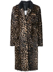 Adam By Adam Lippes Adam Lippes Leopard Print Coat Black