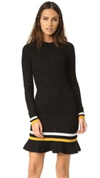 3.1 Phillip Lim Smocked Drop Waist Dress Black