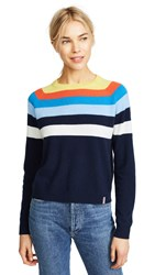 Kule The Biminy Twist Cashmere Sweater Navy Twist