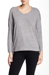 Nation Ltd. Priscilla Fringe Sweatshirt Gray