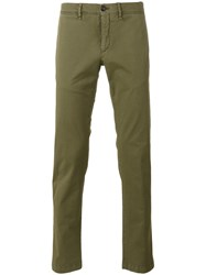 Moncler Classic Chino Trousers Green