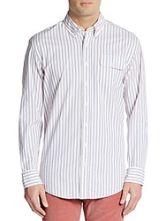 Gant By Michael Bastian Striped Oxford Cotton Shirt Clementine