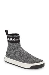 Marc Jacobs Dart Sock Knit Sneaker Silver Multi