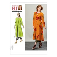 Vogue Today's Fit Women's Duster Coat And Trousers Sewing Pattern 1356
